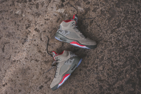 Nike GS Air Jordan 5 - Dark Stucco / Red