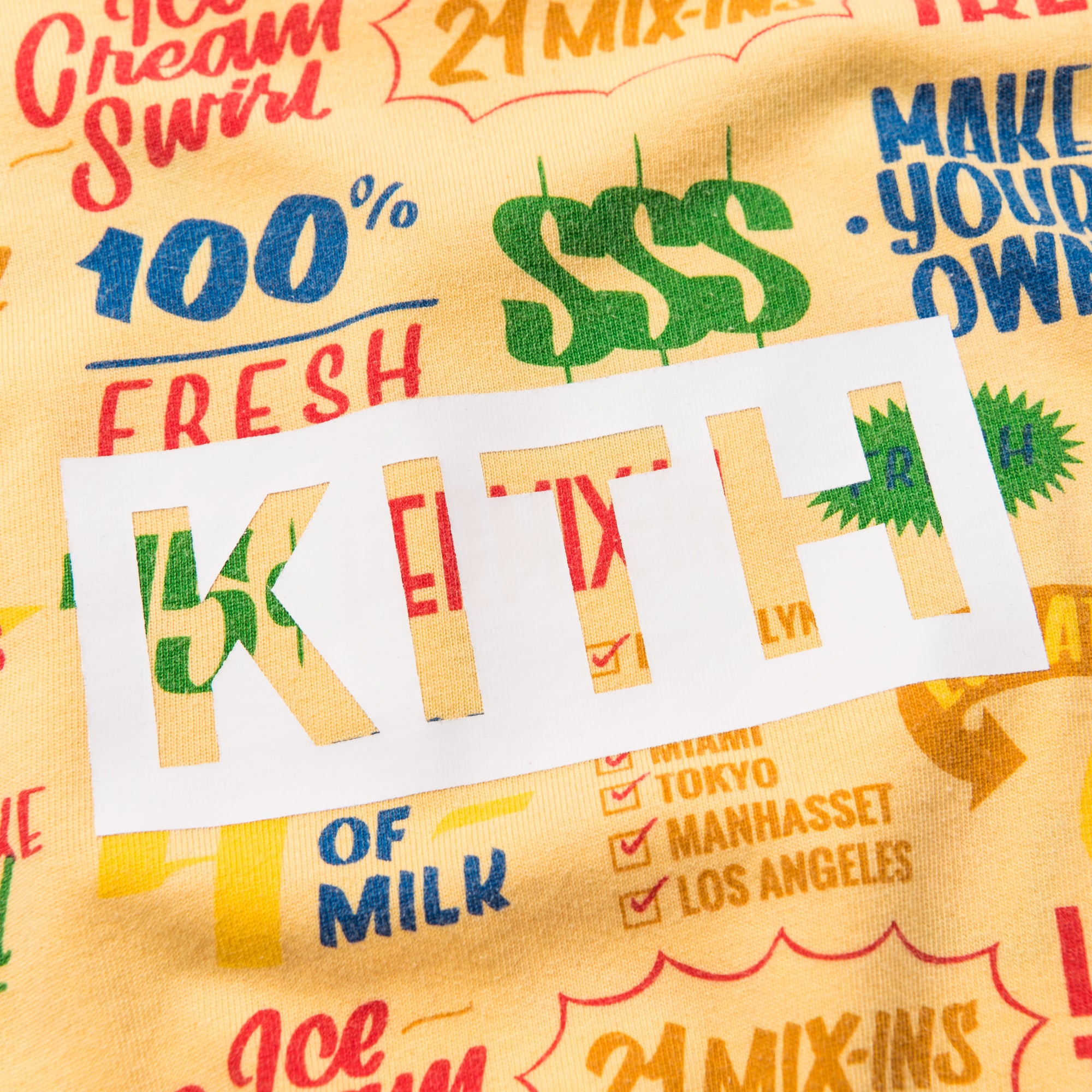 Kith Treats Circular Tee - Yellow
