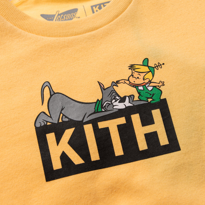 Kith Kids x Jetsons Elroy and Astro Tee - Yellow