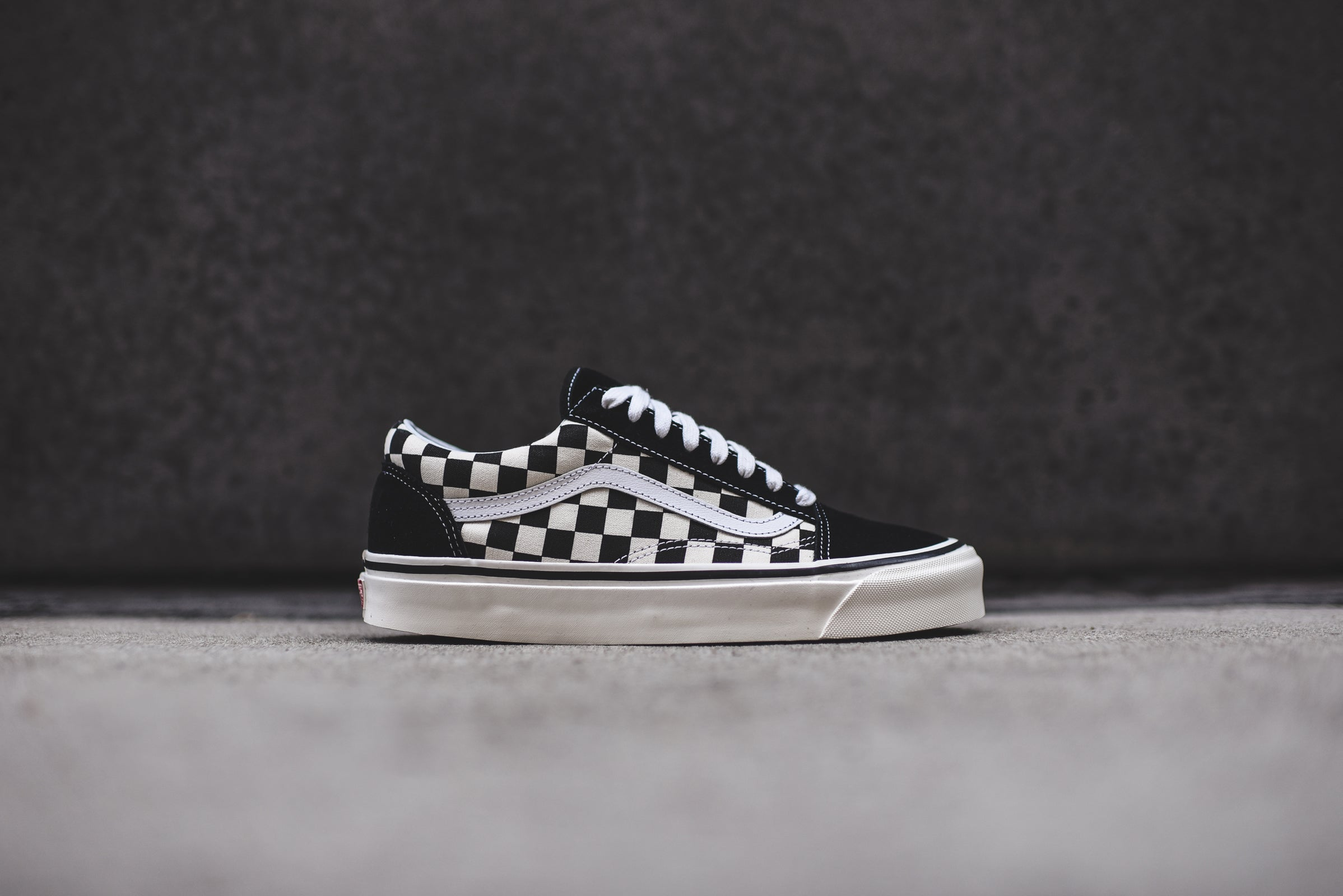 black checkerboard vans old skool