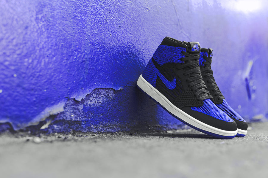 Nike GS Air Jordan 1 Retro FK - Black / Royal