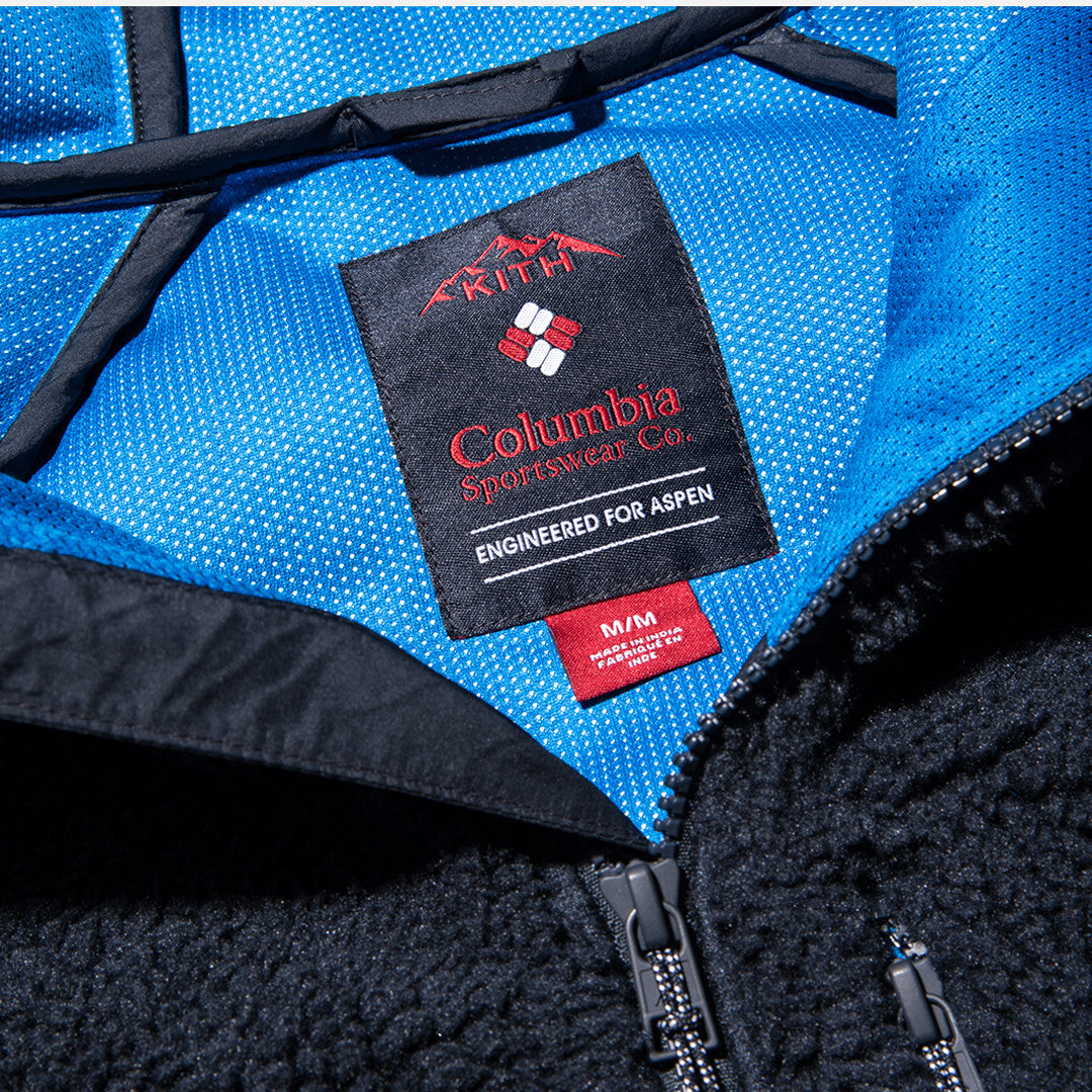 Kith x Columbia Sportswear High-Pile Zip Hoodie - Abyss