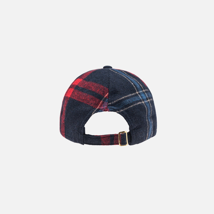 Kith Wreath Blackwatch Cap - Navy / Blue