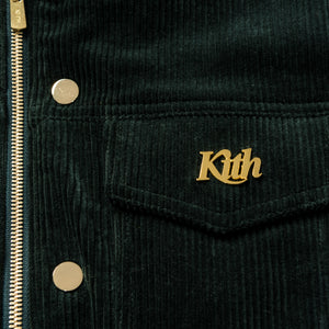 Kith Corduroy Laight Jacket - Forest Green