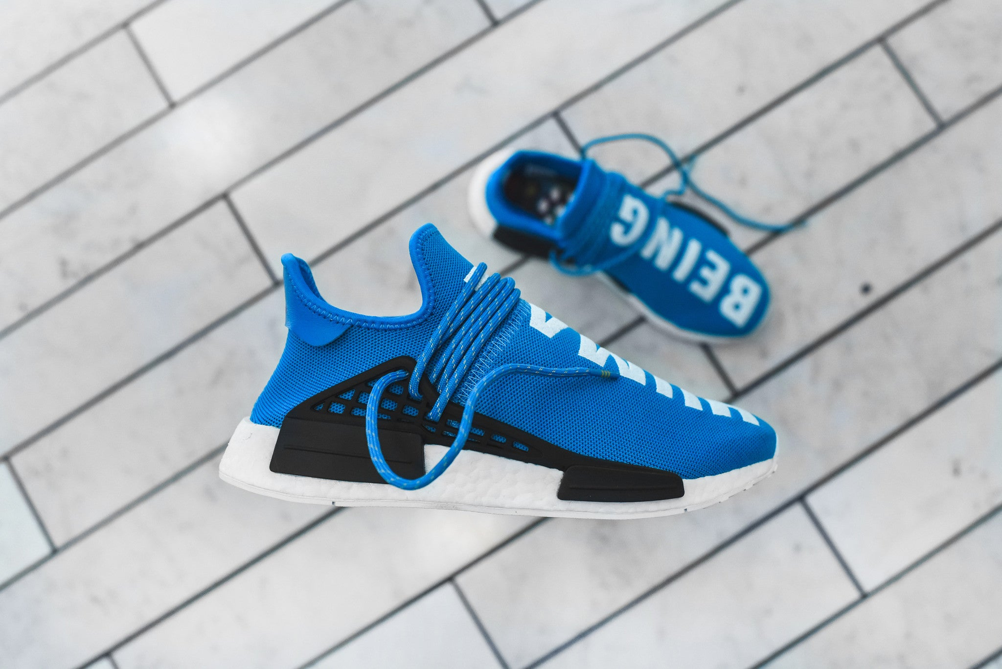 adidas Originals x Pharrell Williams HU Race NMD - Blue
