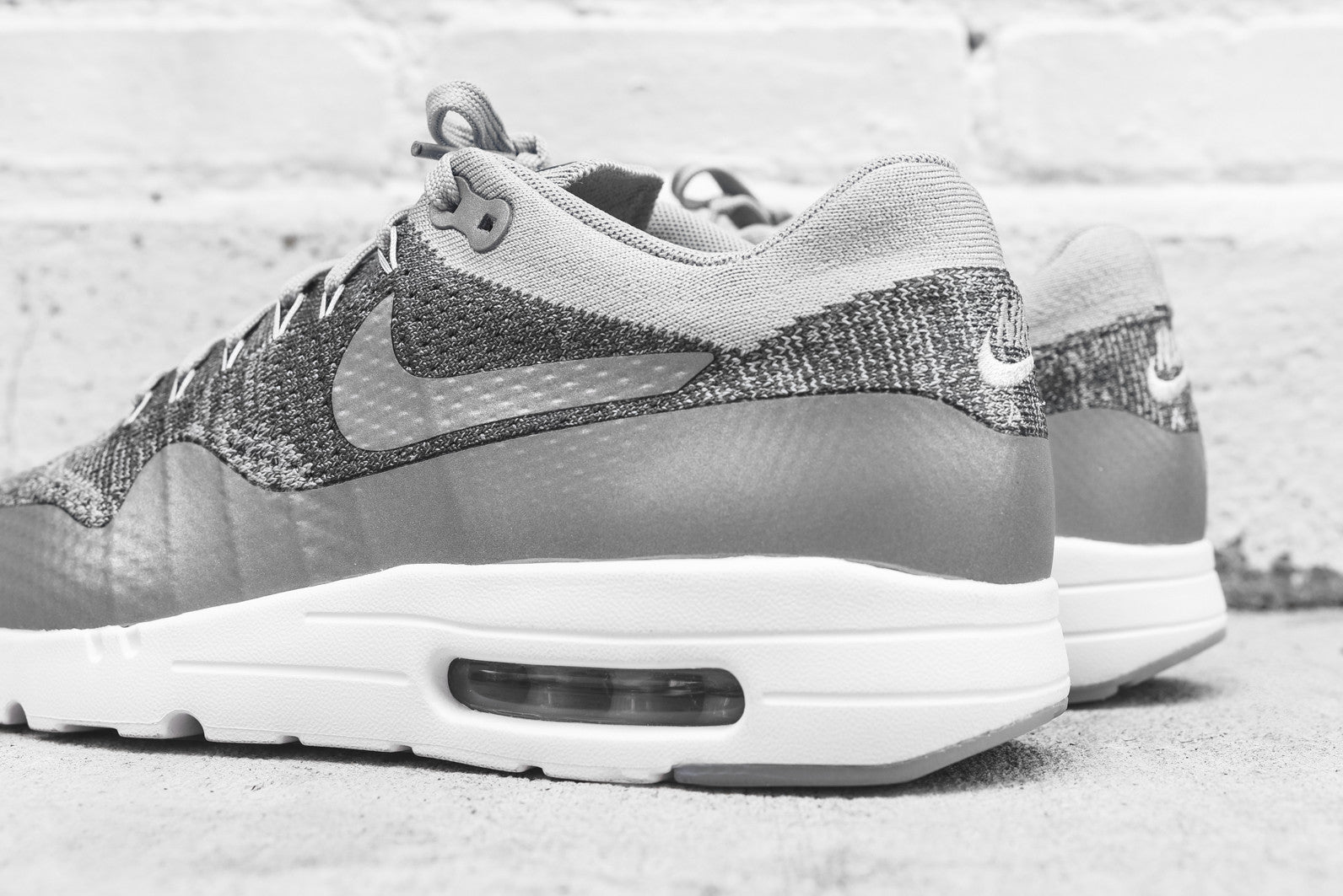 Nike Air Max 1 Ultra Flyknit - Wolf Grey / White