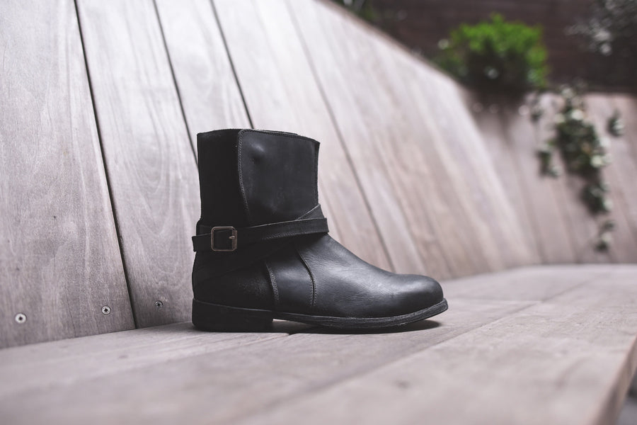 J.D. Fisk Rigby Engineer Boot - Black