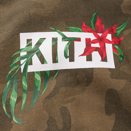 Kith In Bloom Classic Logo Hoodie - Woodland Camo