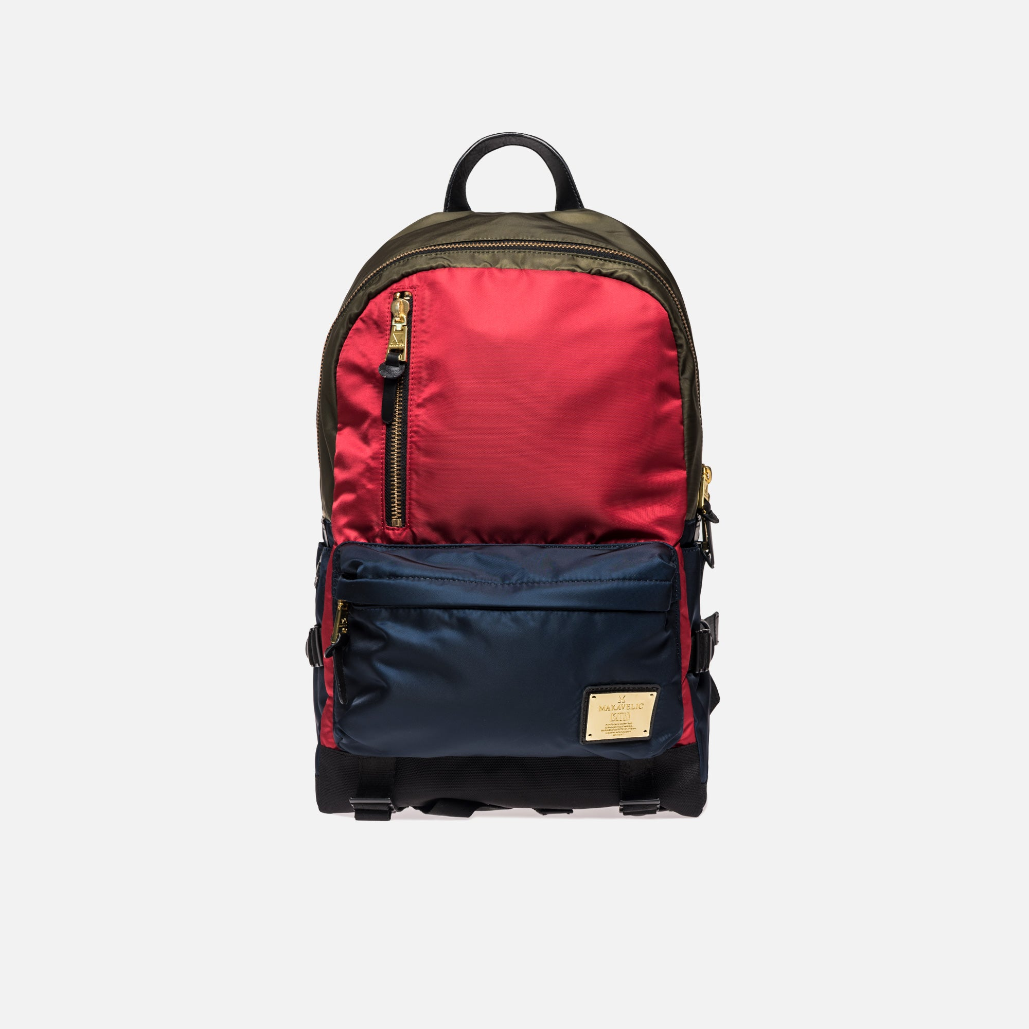 Kith x Makavelic Backpack - Red / Blue / Olive
