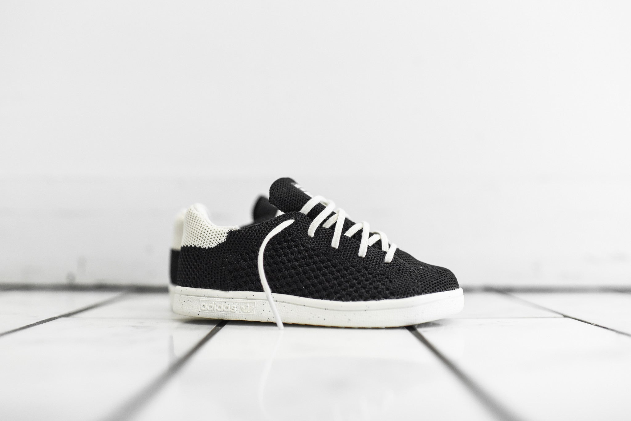 adidas by Mini Rodini Stan Smith PK Toddler - Black / White