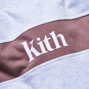Kith Kids Blocked Crewneck - Heather Grey Image 3