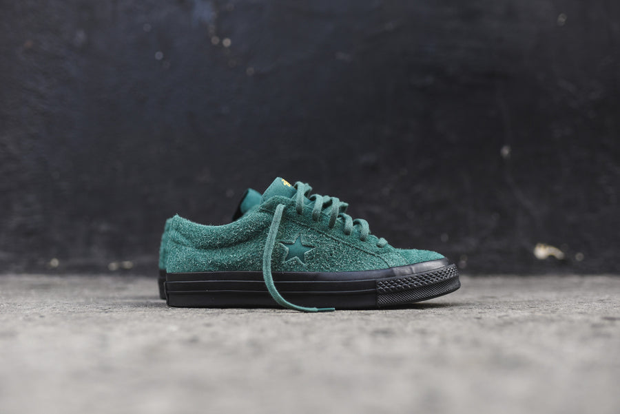 Converse x Stussy One Star 74 Ox - Hunter Green / Black / Gold