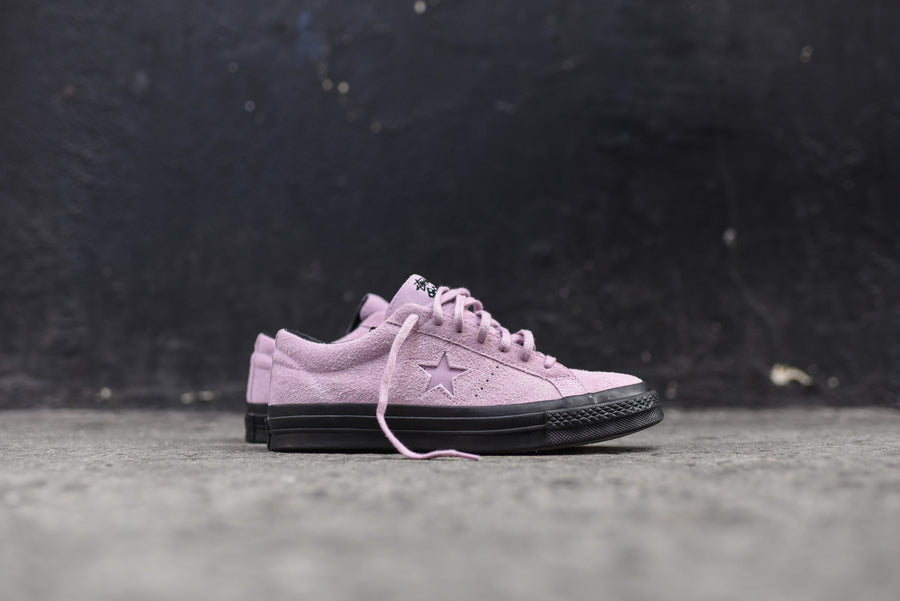 Converse x Stussy One Star 74 Ox - Mauve Mist / Black
