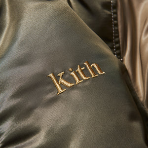 Kith Kids x Alpha Industries Toddler MA-1 Bomber Jacket - Olive / Beige Image 7