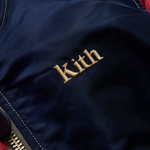 Kith Kids x Alpha Industries Youth MA-1 Bomber Jacket - Navy / Red Image 5
