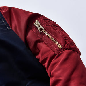 Kith Kids x Alpha Industries Youth MA-1 Bomber Jacket - Navy / Red Image 6