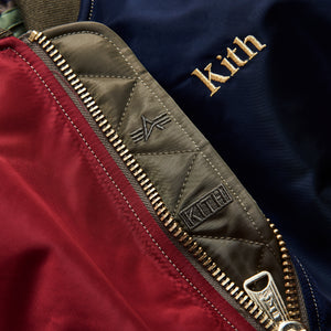 Kith Kids x Alpha Industries Youth MA-1 Bomber Jacket - Navy / Red Image 7