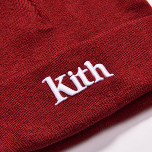 Kith Kids Serif Beanie - Red