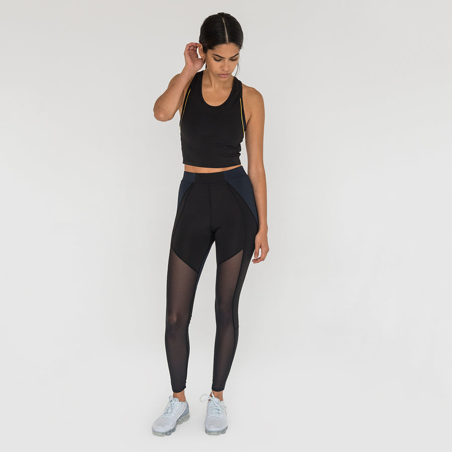 Kith Sport Heidi Sleeveless Activewear Tank - Black / Navy