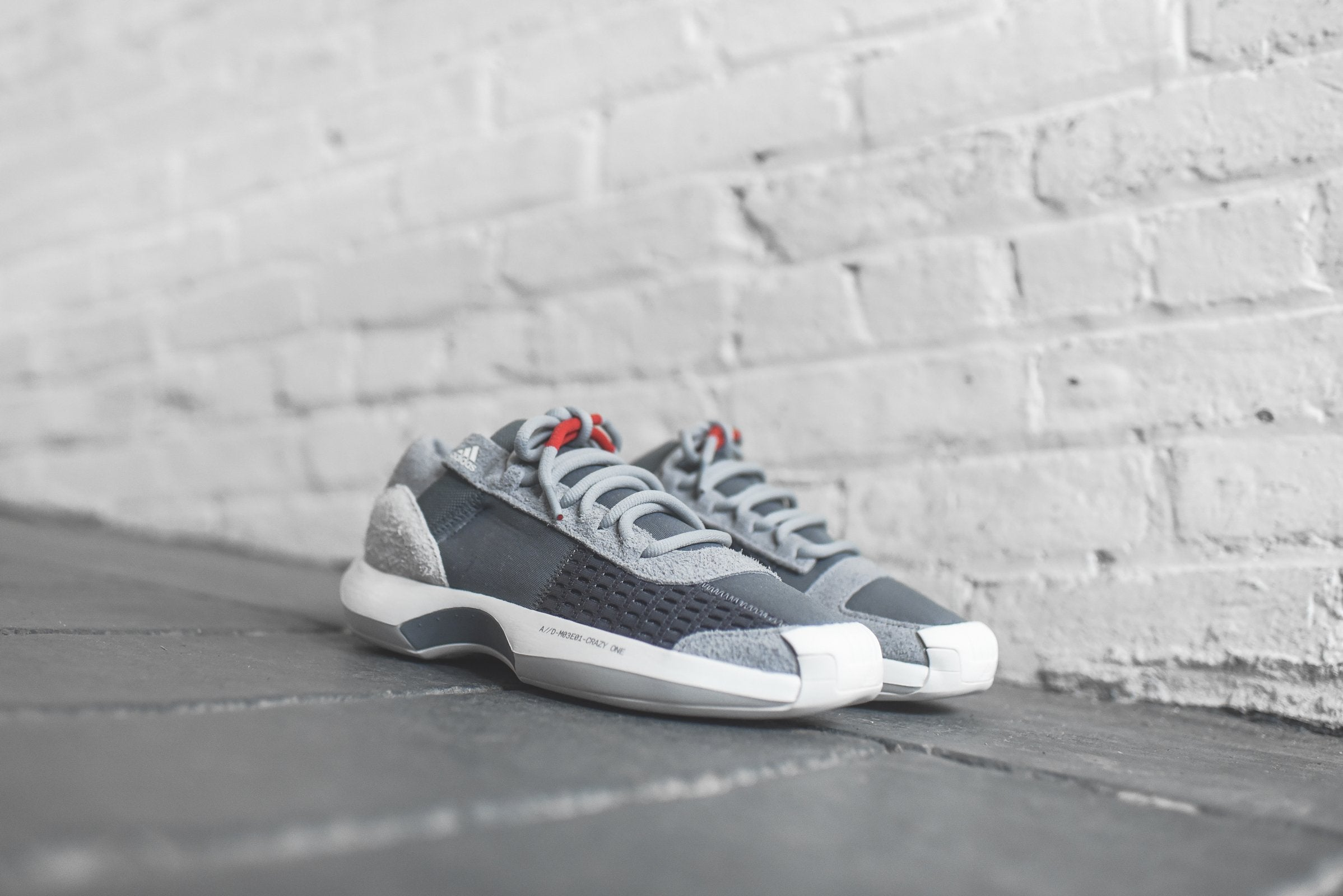 cheaper 38f8e d9339 ... adidas consortium crazy 1 adv grey red