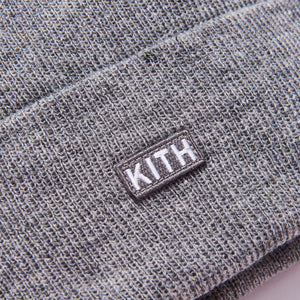 Kith Classic Dock Beanie - Light Heather Grey