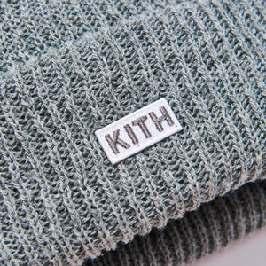 Kith Classic Beanie - Light Heather Grey