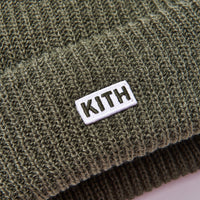 Kith Classic Beanie - Olive Thumbnail 2