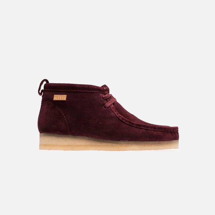Ronnie Fieg x Clarks Shearling Wallabee - Bordeux