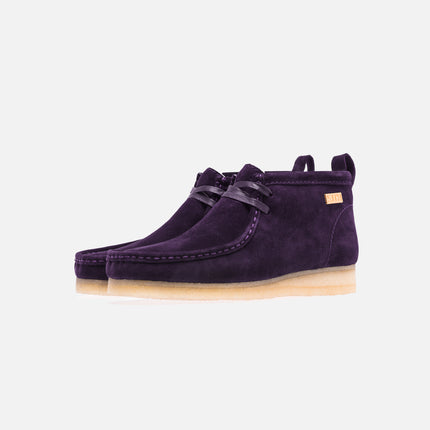 Ronnie Fieg x Clarks Shearling Wallabee - Purple