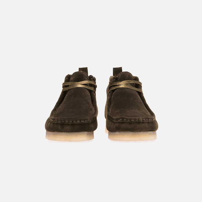 Ronnie Fieg x Clarks Shearling Wallabee - Forest Green