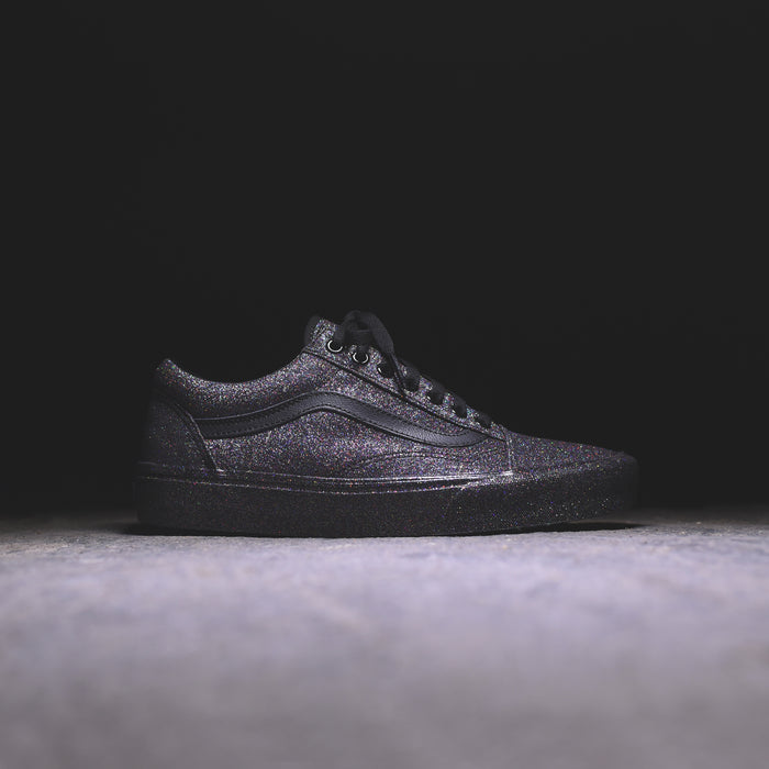 Vans WMNS Old Skool Rainbow Glitter - Triple Black