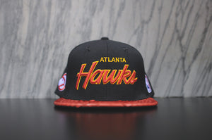 JUST DON Stars Hawks Script Logo - Black / Red