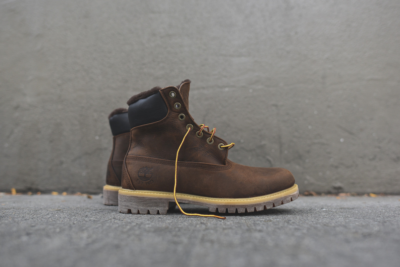 "Timberland Heritage 6"" Shearling Construct Boot - Dark Brown"