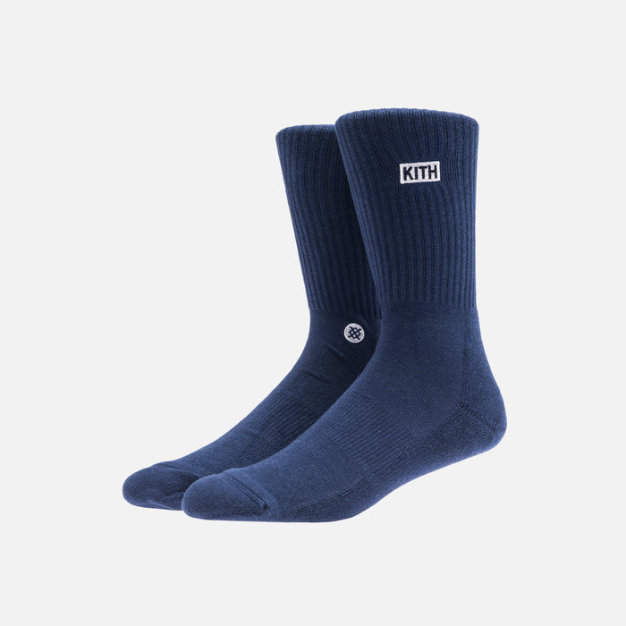 Kith x Stance 2.0 Classic Crew Sock - Navy