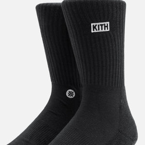 Kith Women x Stance 2.0 Classic Crew - Black Image 2