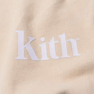 Kith Pigment Dyed Serif Logo L/S - Turtle Dove