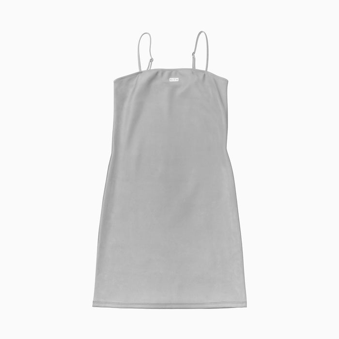 Kith Women x Frankies Reflective Fabric Chemise Dress - Grey