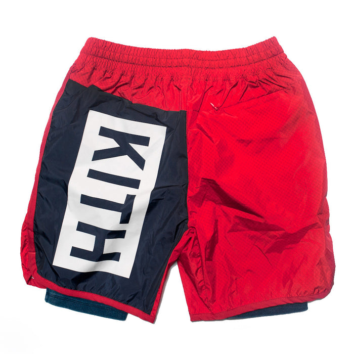 KITH Sullivan Short - Red / Navy