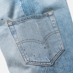 Kith x Levi's Mitchell Paint Splatter 501 - Medium Blue