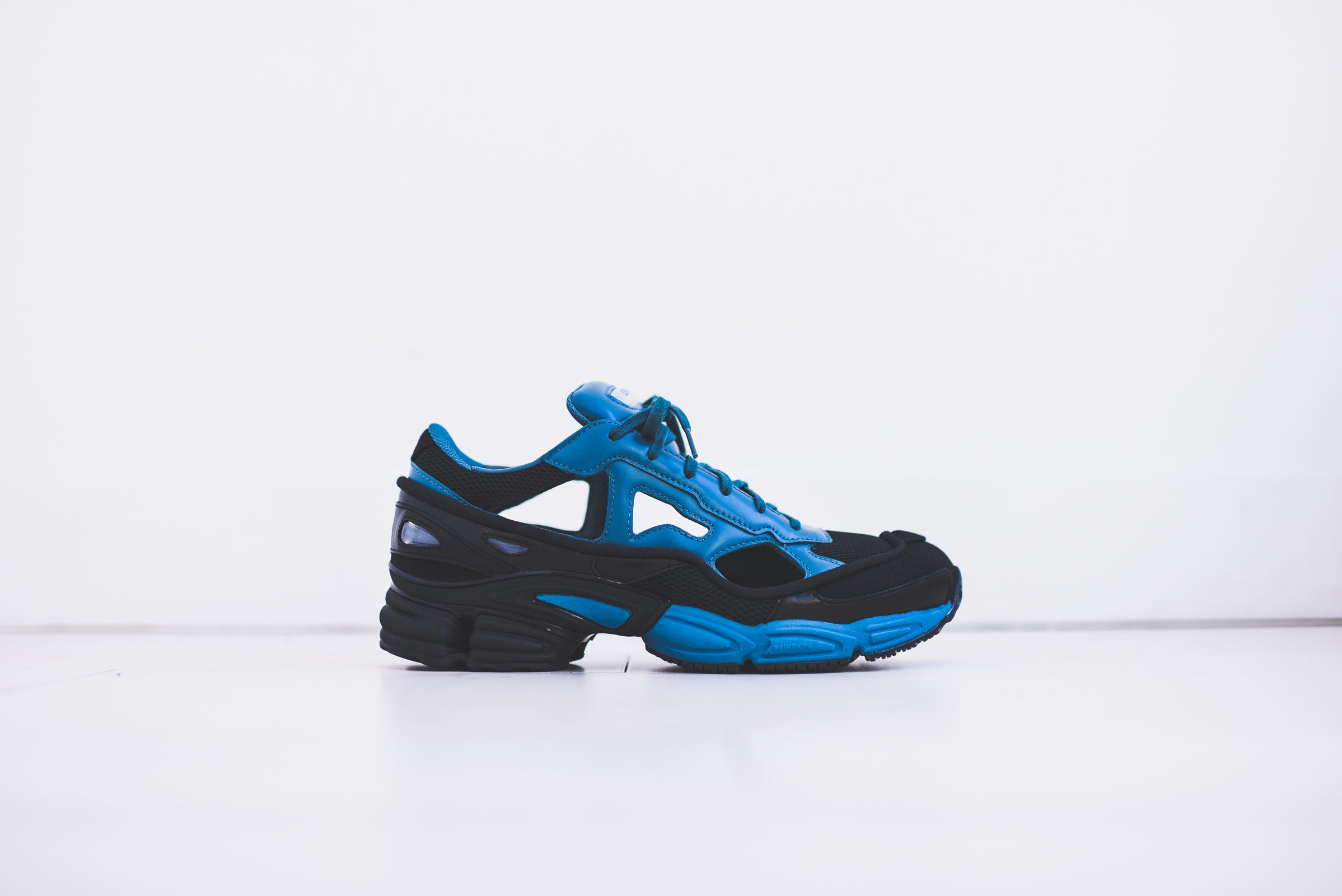 Adidas By Raf Simons Black And Blue Replicant Ozweego Leather Sneakers where can i order free shipping 2015 official cheap online IjAvqI