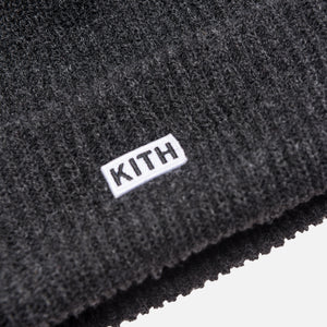 Kith Classic Logo Knit Beanie - Charcoal