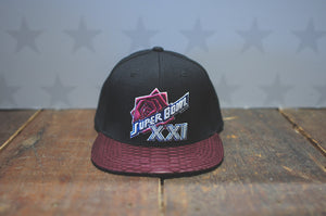 JUST DON Super Bowl XXI - Black / Cranberry
