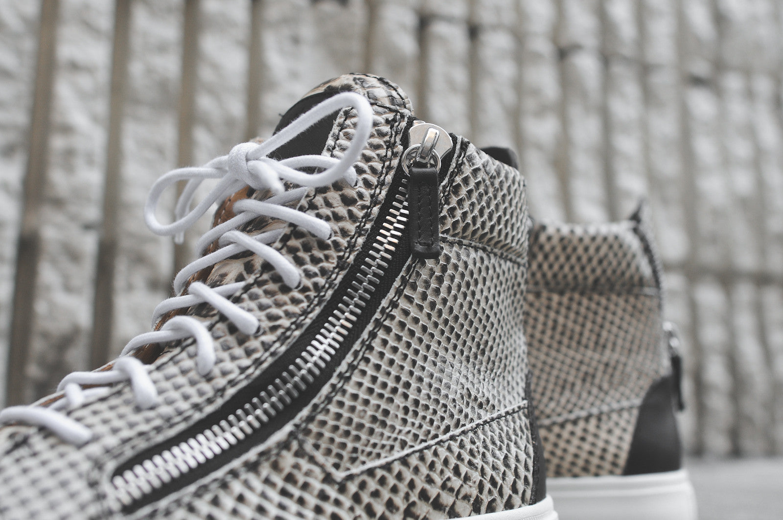 Giuseppe Zanotti WMNS Hi Top Zip-Up - Snakeskin (KITH Exclusive)