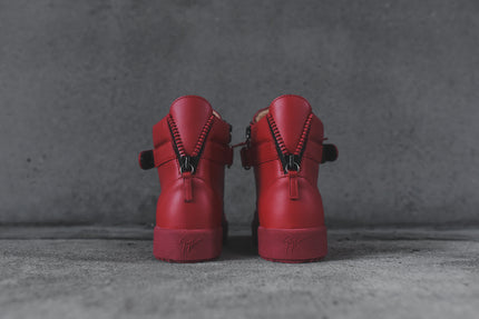 Giuseppe Zanotti Hi Top Double Hardware - Red