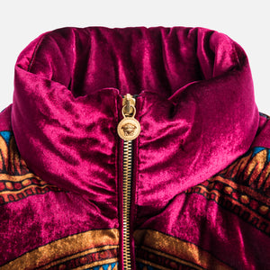 Kith x Versace Velour Down Jacket - Burgundy