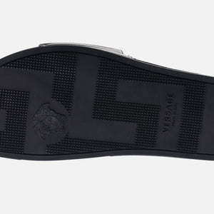 Kith x Versace Leather Slides - Black