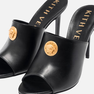 Kith Women x Versace Leather Mule - Black