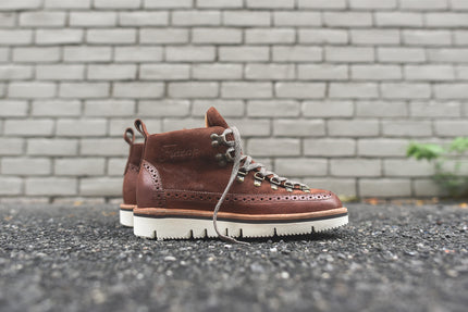 Fracap Brogue Boot - Brown