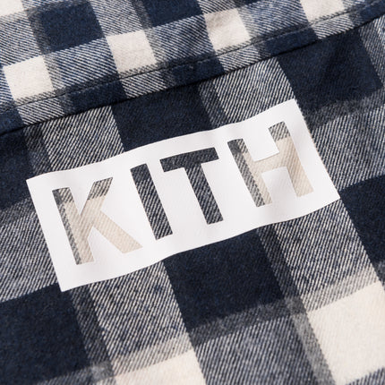 Kith Kids Mixed Plaid Ginza Button-Up - Navy