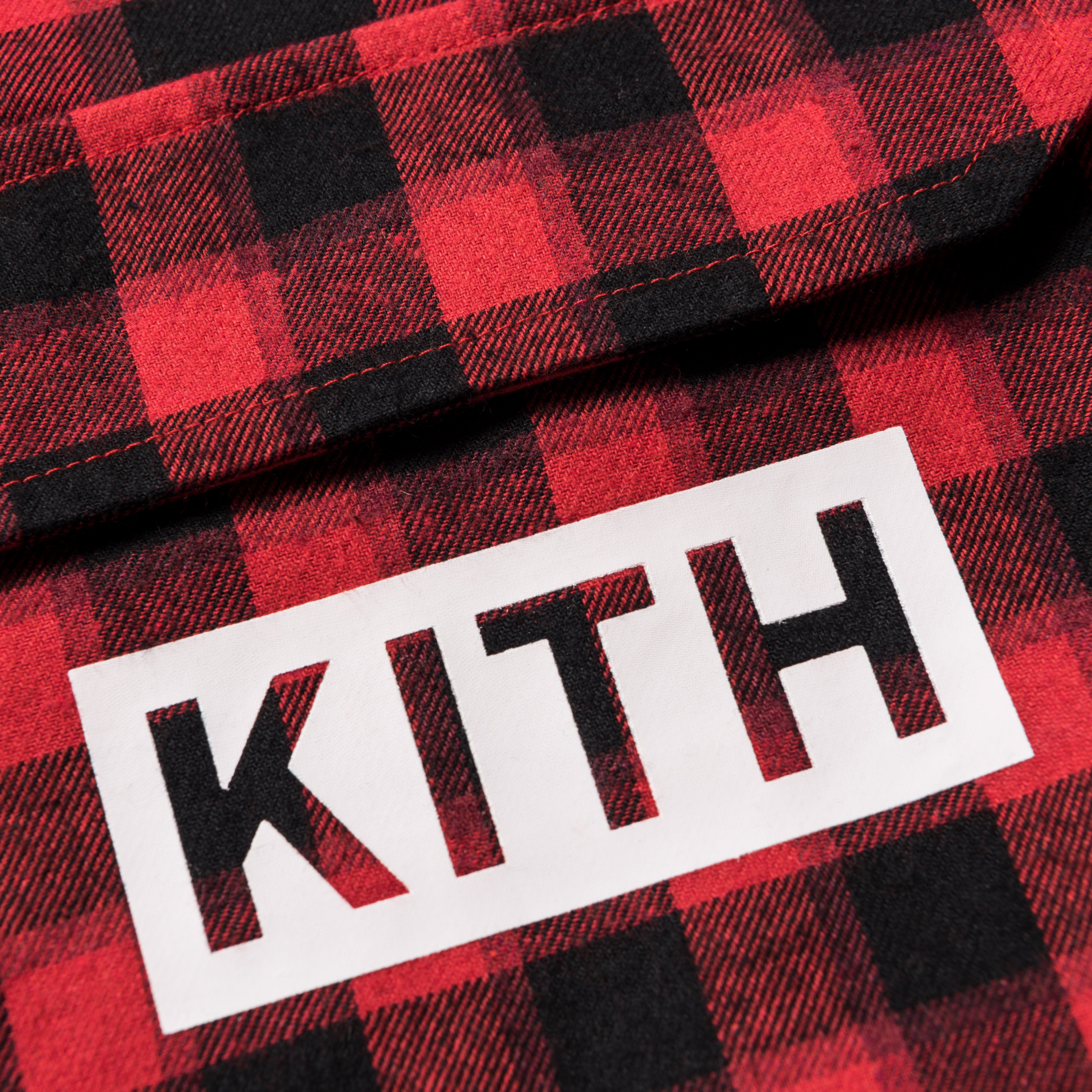 Kith Kids Harrison Plaid Quarter-Zip Pullover - Red
